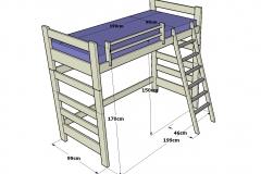 Litera-infantil-y-juvenil-de-madera-con-cabezales-superiores-hueco-inferior-y-escalera