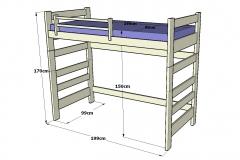 Litera-infantil-y-juvenil-de-madera-con-cabezales-superiores-hueco-inferior-y-sin-escalera