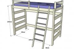 Litera-infantil-y-juvenil-de-madera-con-hueco-por-debajo-y-de-140cm.-de-altura-dib2