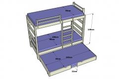 2-Litera-Alta-de-140cm.-de-altura-con-escalera-vertical-Detalle-dimensiones-Nido