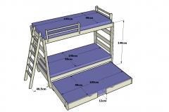 3-Litera-Alta-de-140cm.-de-altura-con-escalera-inclinada-Detalle-dimensiones-Nido