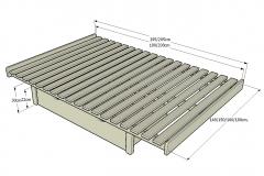 1_10-Somier-Ximple-para-cama-de-140-150-160-180cm.-con-patas-de-22cm.-Detalle-con-cajon-cerrado