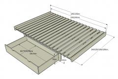 1_11-Somier-Ximple-para-cama-de-140-150-160-180cm.-con-patas-de-22cm.-Detalle-con-cajon-abierto