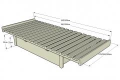 1_4-Somier-Ximple-para-cama-o-sofa-tipo-Chill-out-de-070-080-090cm.-con-patas-de-22cm.-Detalle-con-cajon-cerrado