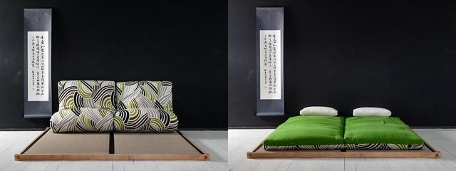 Marco con tatamis y futon. Haiku-Futon®